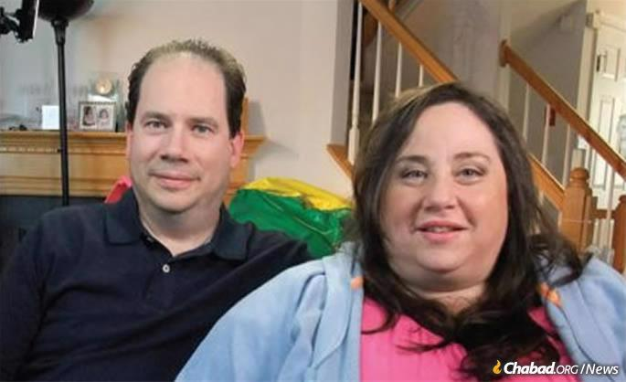 Joel and April Semmel. She was featured on a local television program to show the world what it's like to raise triplets, along with another sibling.
