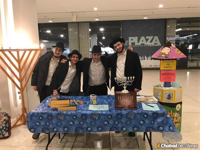 Chabad of the Capital District had a strong presence at the New York State Capitol in Albany over Chanukah, including this public menorah and stand at the Empire State Plaza offering menorahs to government officials and tourists who frequent the area.