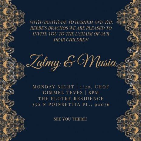 Zalmy and Musia Los Angeles L'Chaim Invitation.JPG