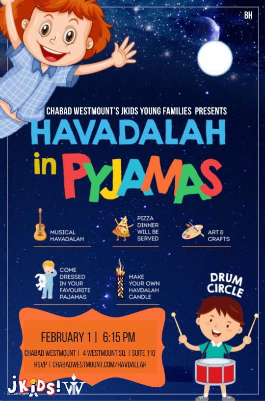 feb 1 Havdallah night