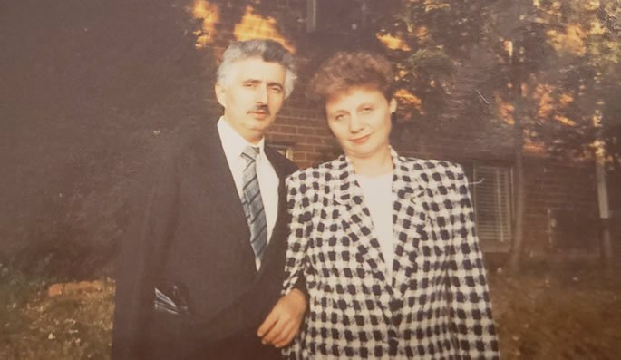 My parents at the time we visited the Lubavitcher Rebbe.