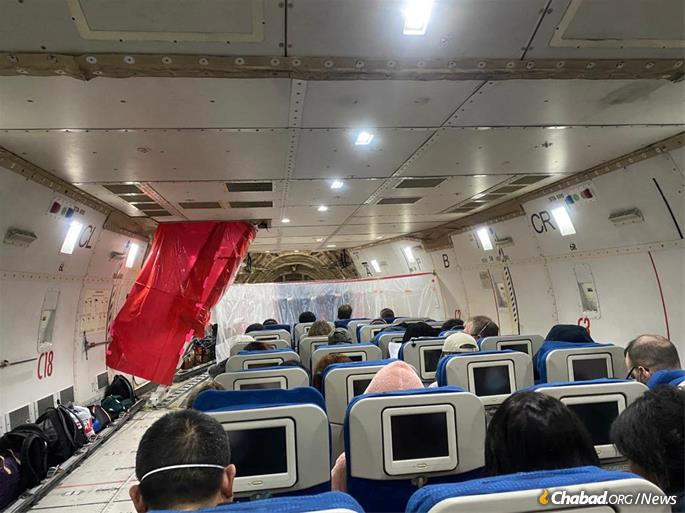 A cargo plane evacuating U.S. citizens also served as a health clinic.