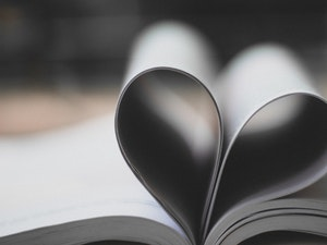 Open book forming heart