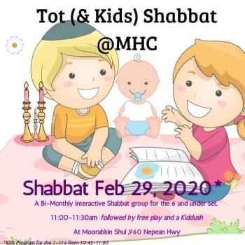 Bi-Monthly Tot (& Kids) Shabbat