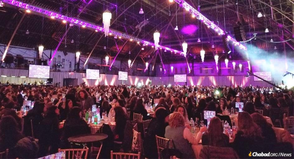 More than 3,100 Chabad women emissaries, friends and supporters laughed, cried, prayed and sang at the annual gala celebration.