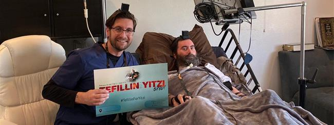 #TefillinforYitzi Honoring Rabbi With ALS Now an International Tradition