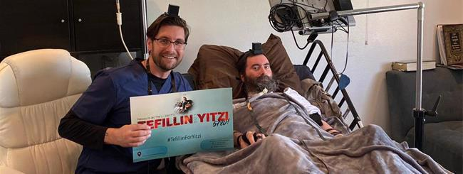 February 2020: #TefillinforYitzi Honoring Rabbi With ALS Now an International Tradition