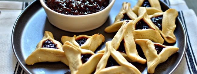 Traditional Hamantaschen & Other Desserts: Classic 'Lekvar' (Prune Butter) Hamantaschen