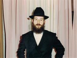 Rabbi Holtzman at his wedding in 1985