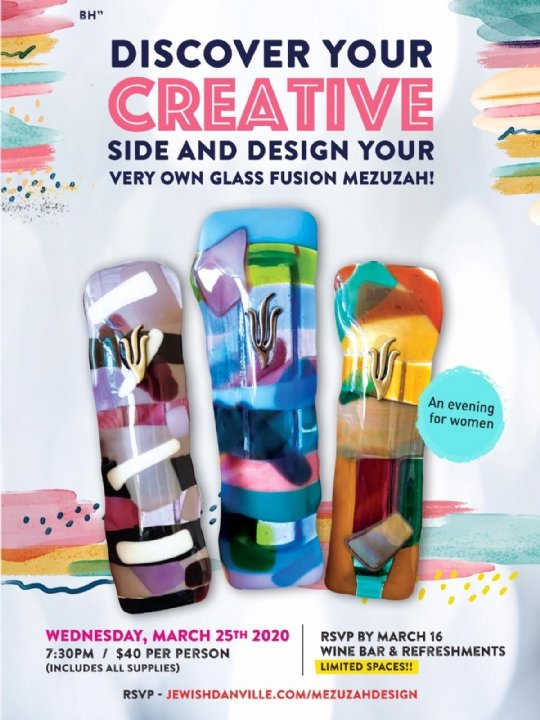 Glass Fusion Mezuzah Workshop