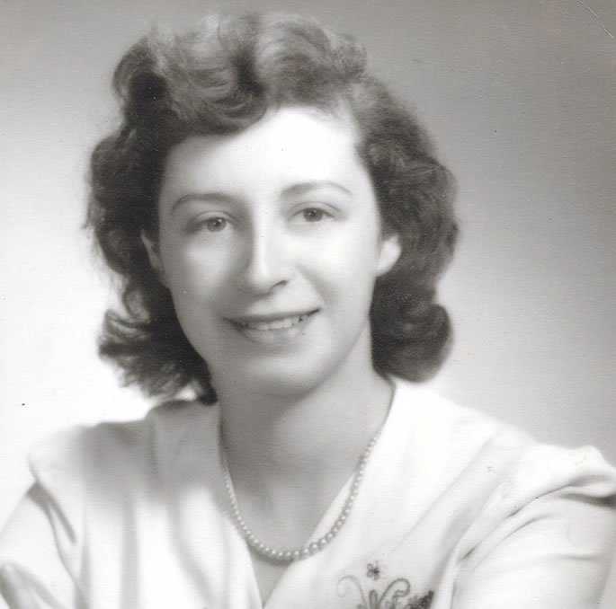 My mother-in-law, Edythe J. Gordon Fein, as a young woman.