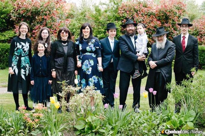 The Lent family at the bar mitzvah of one of their sons, together with Mrs. Lent's parents, Drs. Tali and Kate Miriam Loewenthal.