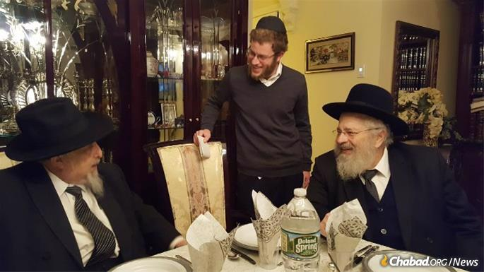 Gurary with his brother-in-law, Rabbi Dovid Meir Drukman.