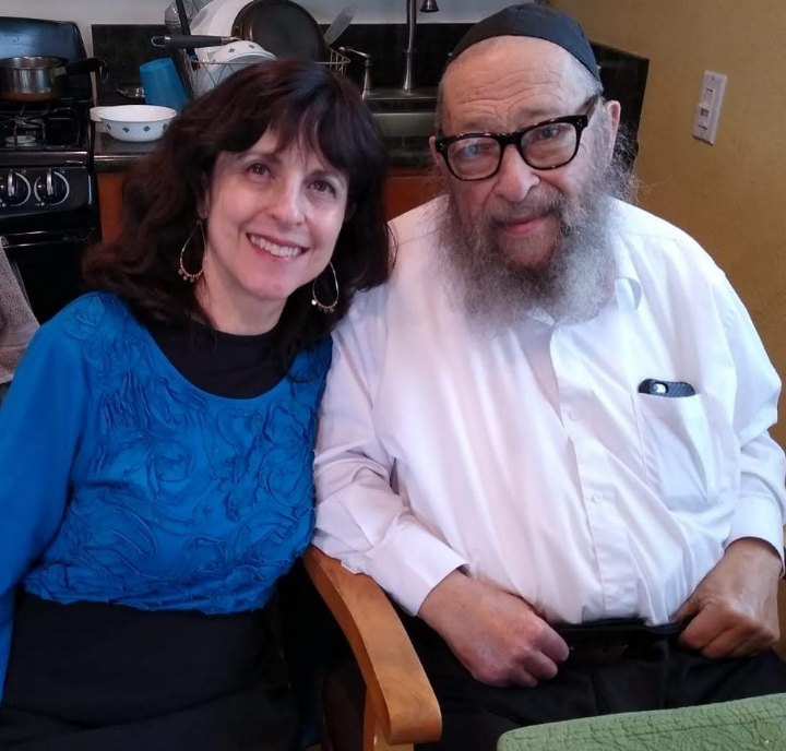 Nechama Prus with her father, Yitzchok Kosofsky