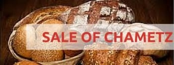 Sell Your Chametz -  Online Form