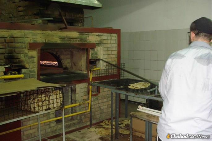 Most matzah bakeries have been baking for three to four months already.