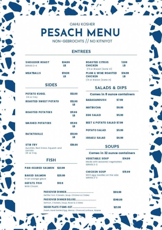Yudi Pesach 2020 menu.JPG