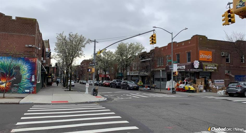 The Crown Heights neighborhood of Brooklyn, N.Y., was hit fast and early by COVID-19. From the start, its Jewish community took things seriously, closing schools and synagogues. The streets, such as the normally bustling Kingston Avenue, are now silent.