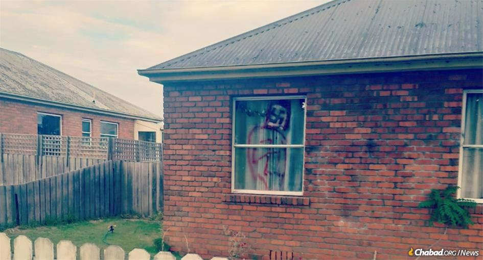 A woman recently made news in Launceston, Tasmania, for hanging Nazi flags in the window of her house after previously spray-painting swastikas on the home's exterior.