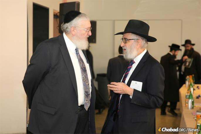 Rabbi Levy with son-in-law Rabbi Chaim Fogelman, director of Public Relations and Education at the OK.