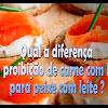 Proibição de misturar carne e peixe e peixe e leite - 200
