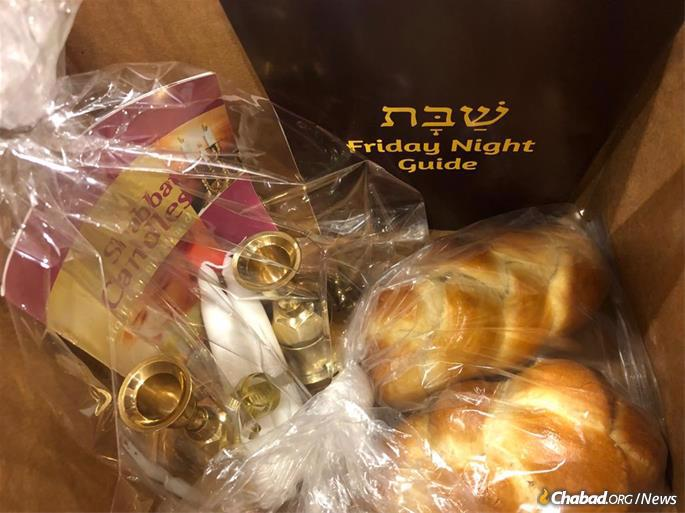 Challah and Shabbat candles care of Chabad of Mequon.
