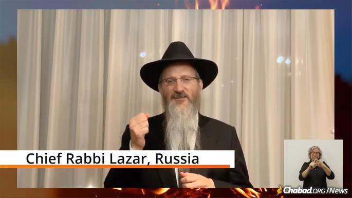 Rabbi Berel Lazar, Chief Rabbi of Russia