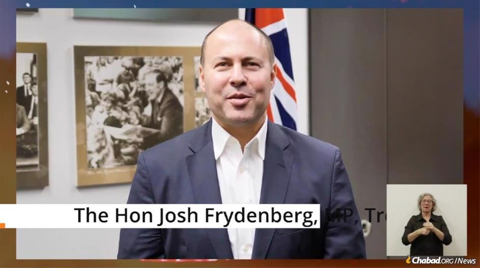 Hon. Josh Frydenberg, the second highest-ranking official in the Australian government, spoke at an online Lag BaOmer event that drew thousands.