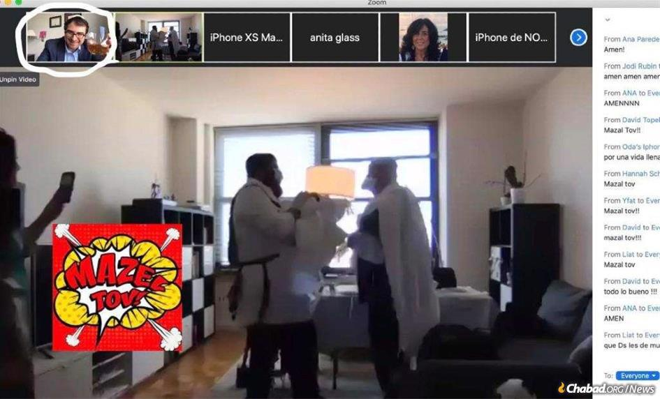 Alexander and Vivan Rosemberg expected about 100 people join them at home to celebrate their son's brit milah. When that became impossible, far more friends and family from around the world joined them and Rafael Jacob via Zoom.