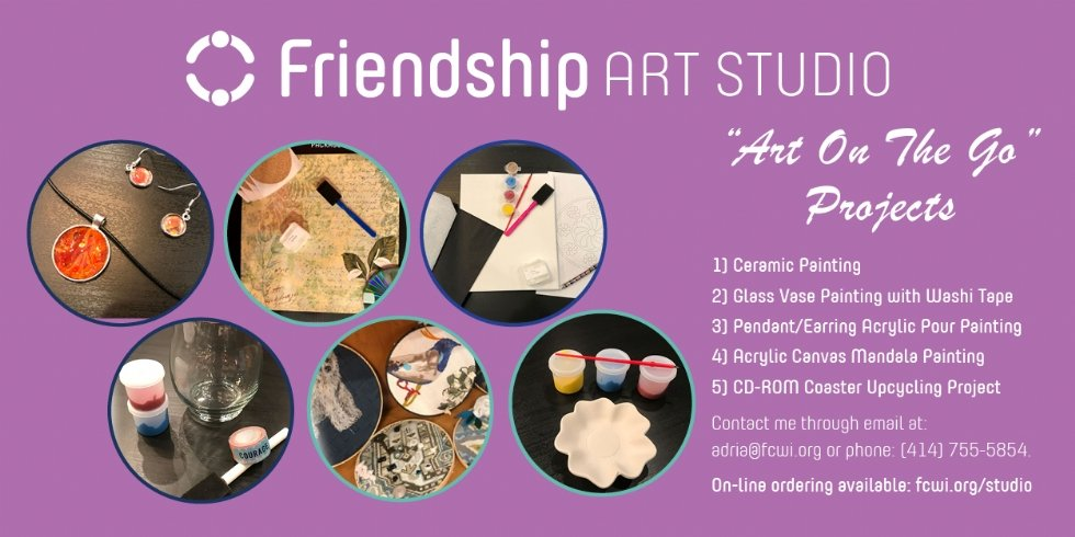 Friendship Art Studio Art on the Go Projects