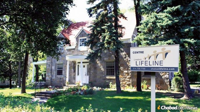 The Chabad Lifeline Center is located in a 100-year-old house on the grounds of Jewish General Hospital in Montreal, proving a warm, homelike environment for those they serve.