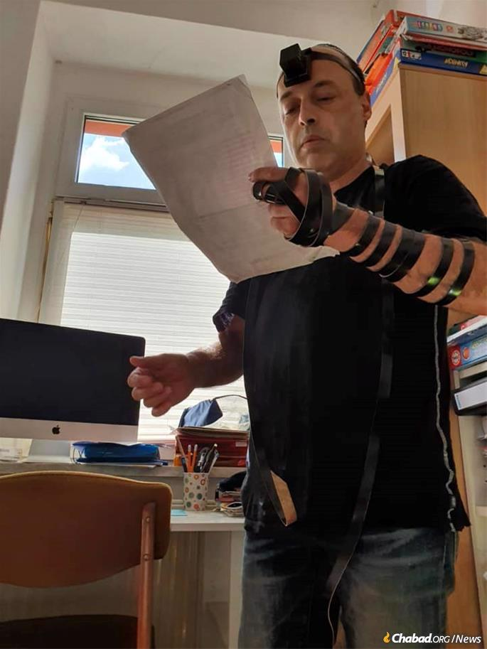 People around the world, like Ilia Yamoolski in Berlin, have been doing mitzvahs in Yudi Dukes's honor.