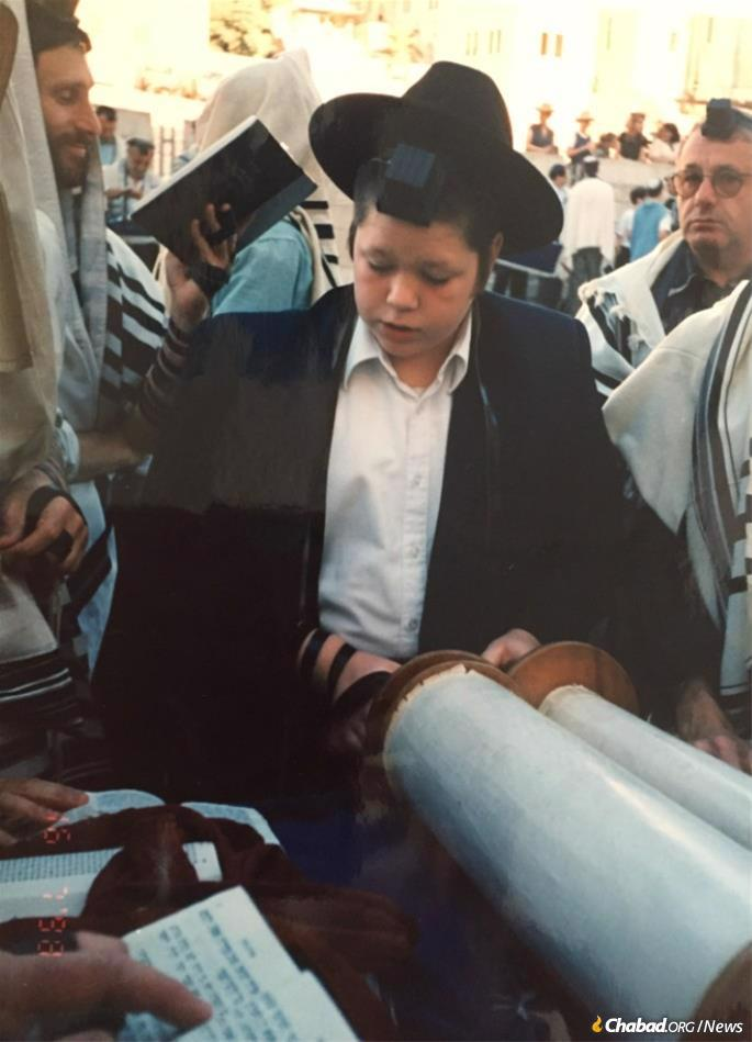 Kopman at his bar mitzvah at the Kotel in Jerusalem. (Photo: Courtesy Kopman Family)