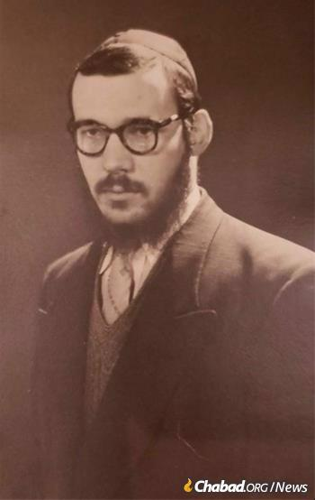 Aharon Schwei as a rabbinical student in Montreal