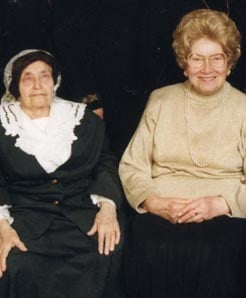 Maryasha with her daughter Shula Kazen.