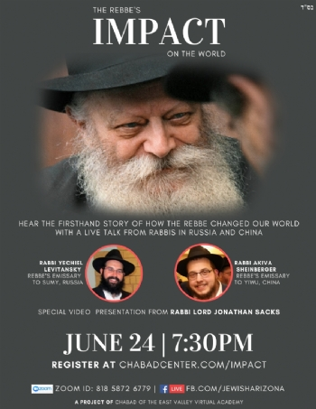 The Rebbe's IMPACT on the world