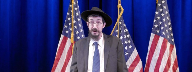 July 2020: New Jersey Congressman Celebrates Two Chabad Rabbis as 'Hometown Heroes'
