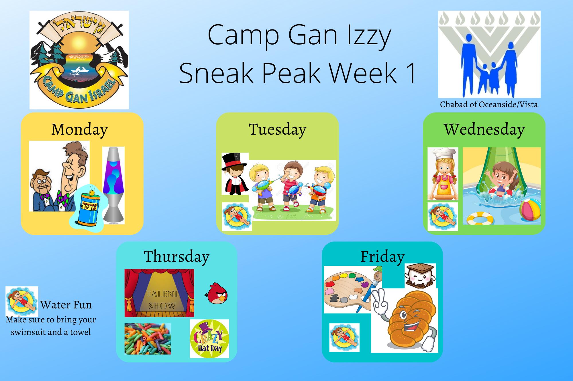 Camp Gan Izzy Week 1 2020