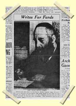 A clipping fromthe Baltimore News concerning the Rebbe.