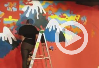 Friendship Circle Cafe is All Decked Out with New Mural that Honors People with Special Needs