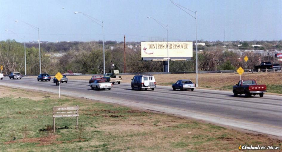 One college student's Jewish journey began in the early 1990s when he saw this unexpected billboard on a highway in the middle of Oklahoma.