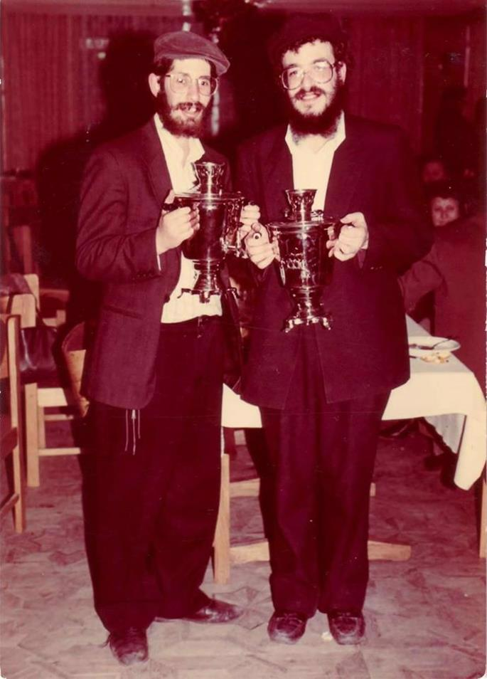 Young Rabbis Mangel and Shemtov during their stint in Kherson.