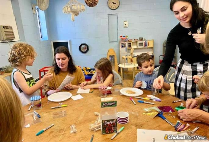 For many young Jewish families, the biggest draw are excellent Jewish schools, from preschool onward, like the Chabad Hebrew School in Westchester County, N.Y., above.