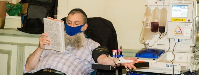 COVID-19 Pleas From Hard-Hit States Spur Chassidic Blood Plasma Drive