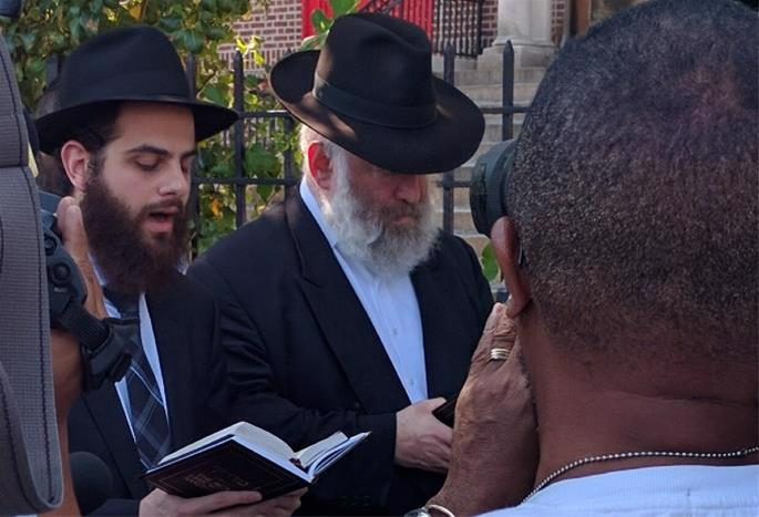 Rosenbaum at a recent memorial gathering for his brother, Yankel.