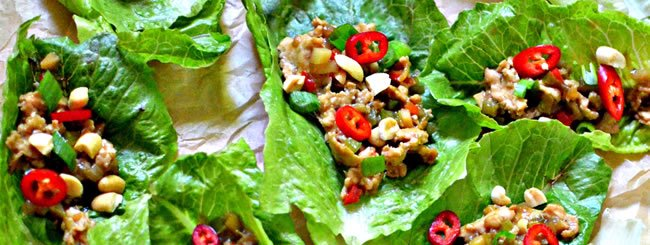 Chicken & Turkey: Asian-Inspired Chicken Lettuce Cup Wraps
