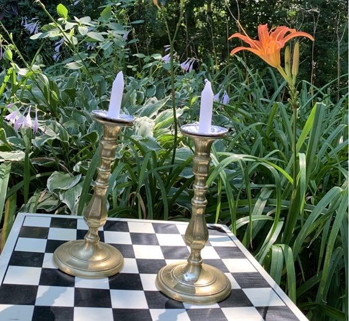 Bubby Eta's brass candlesticks