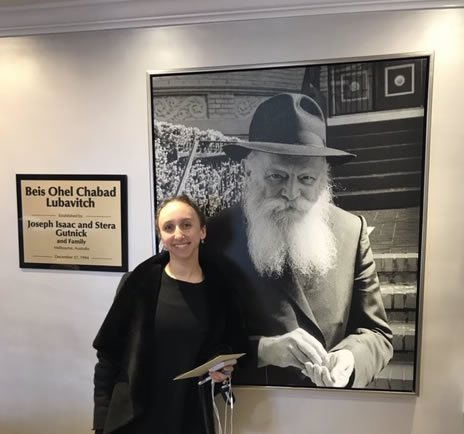 At the Rebbe's Ohel, 2019.