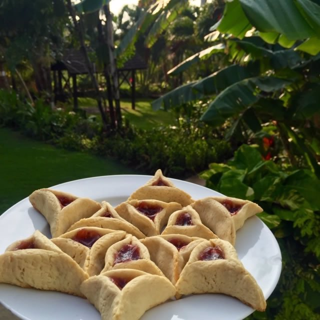 Hamantaschen I made the first year I lived in Hawaii.