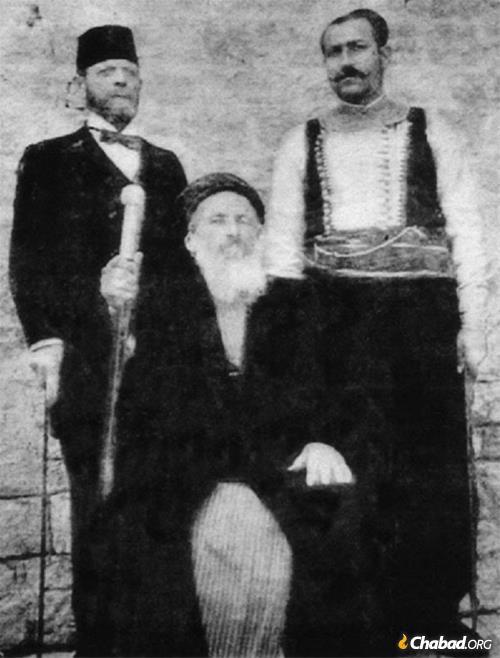 Rabbi Jacob Saul Dwek, Chacham Bashi of Aleppo, Syria, 1908.